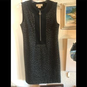 Michael Kors Leopard Black Dress (S/.XS)